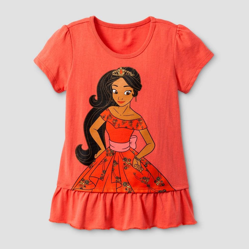 Toddler Girls Elena of Avalor T-Shirt - Red 3T