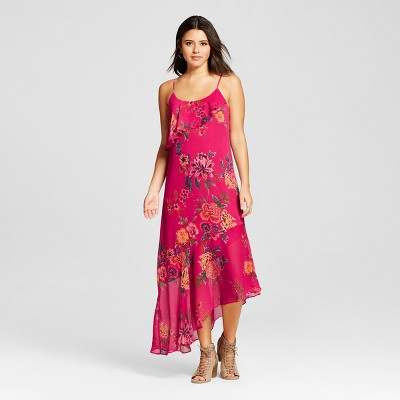 view Women's Asymmetrical Maxi Dress - Xhilaration (Juniors') on target.com. Opens in a new tab.