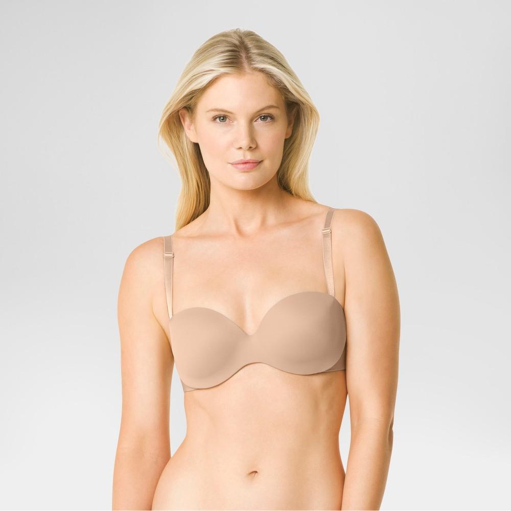 Warners Simply Perfect Womens No Poke Strapless Bra - Butterscotch 34B
