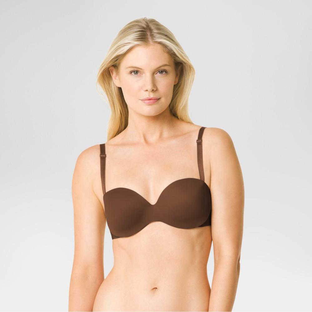 Warners Simply Perfect Womens No Poke Strapless Bra - Java Bean 38B