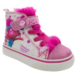 Toddler Girls' Troll High Top Sneakers - White