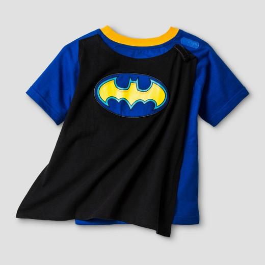 Toddler Boys' Batman Short Sleeve Cape T-Shirt - Blue/Black : Target