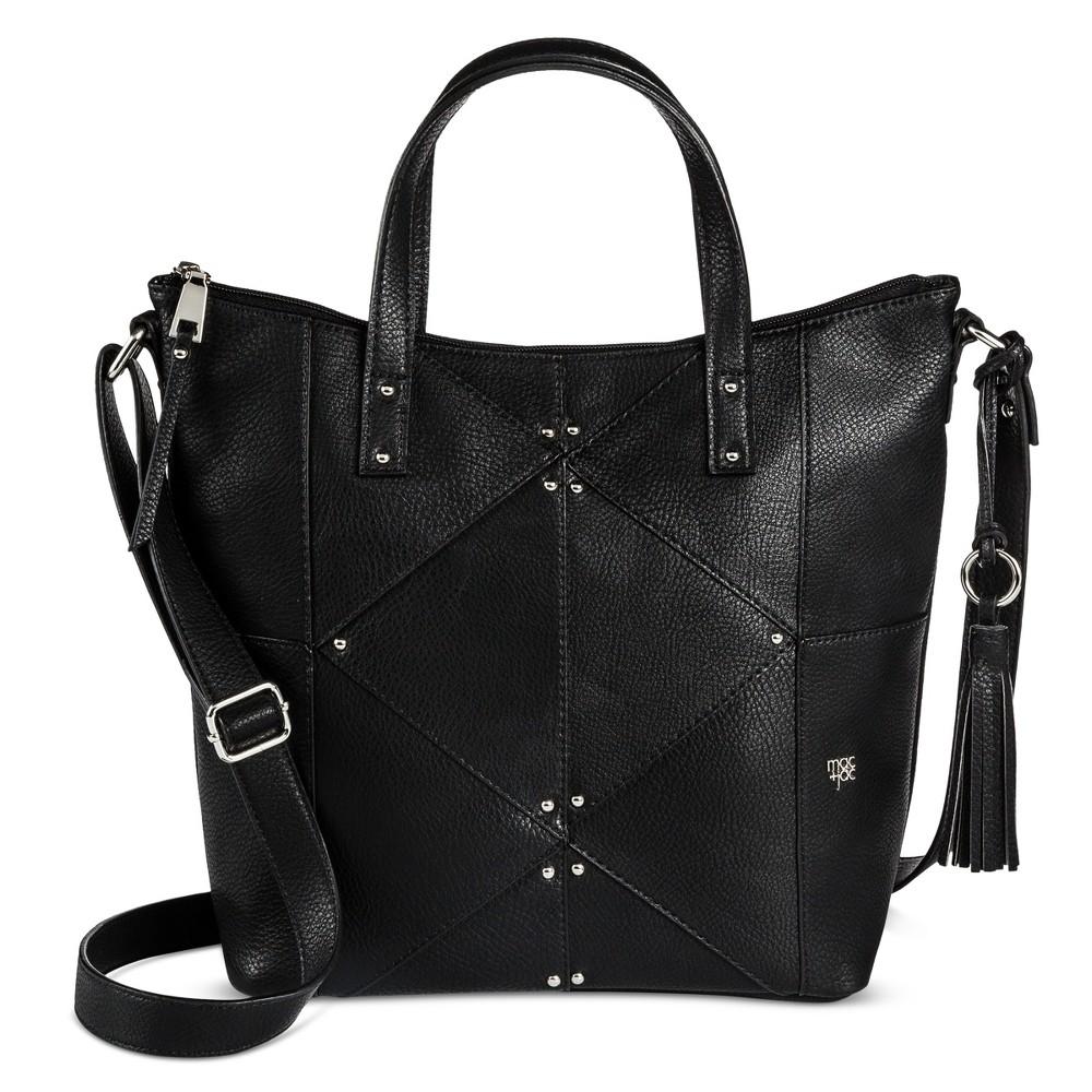 Womens Mac + Jac Tote Handbag - Black