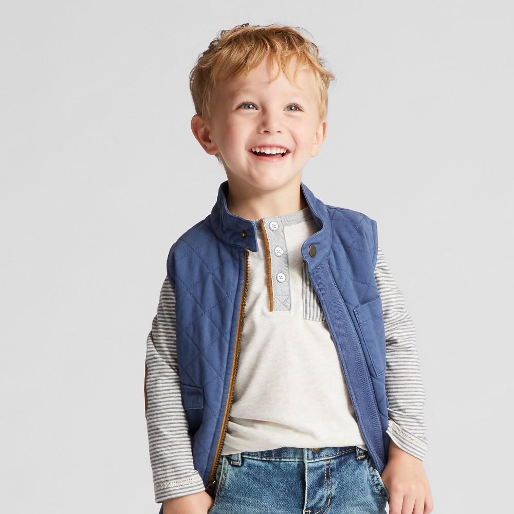Toddler Boys Military Vest Genuine Kids from OshKosh - Blue 12M, Size: 12 Months