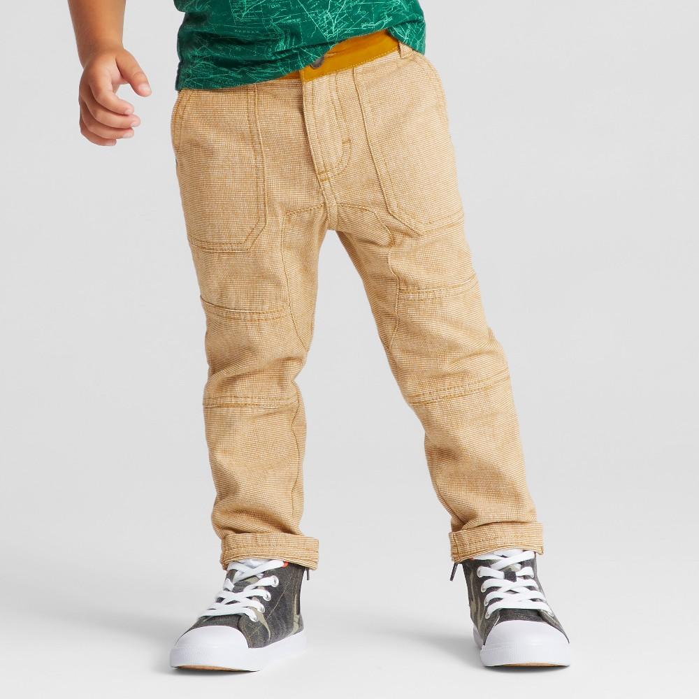 Toddler Boys Chino Pants Genuine Kids from OshKosh Gold Rush 5T, Yellow