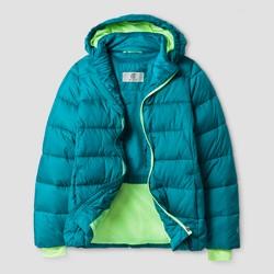Girls' Puffer Jacket C9 Champion® - Teal