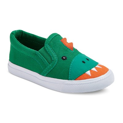 view Toddler Boys' Finch Critter Slip On Sneakers - Cat & Jack - Green on target.com. Opens in a new tab.