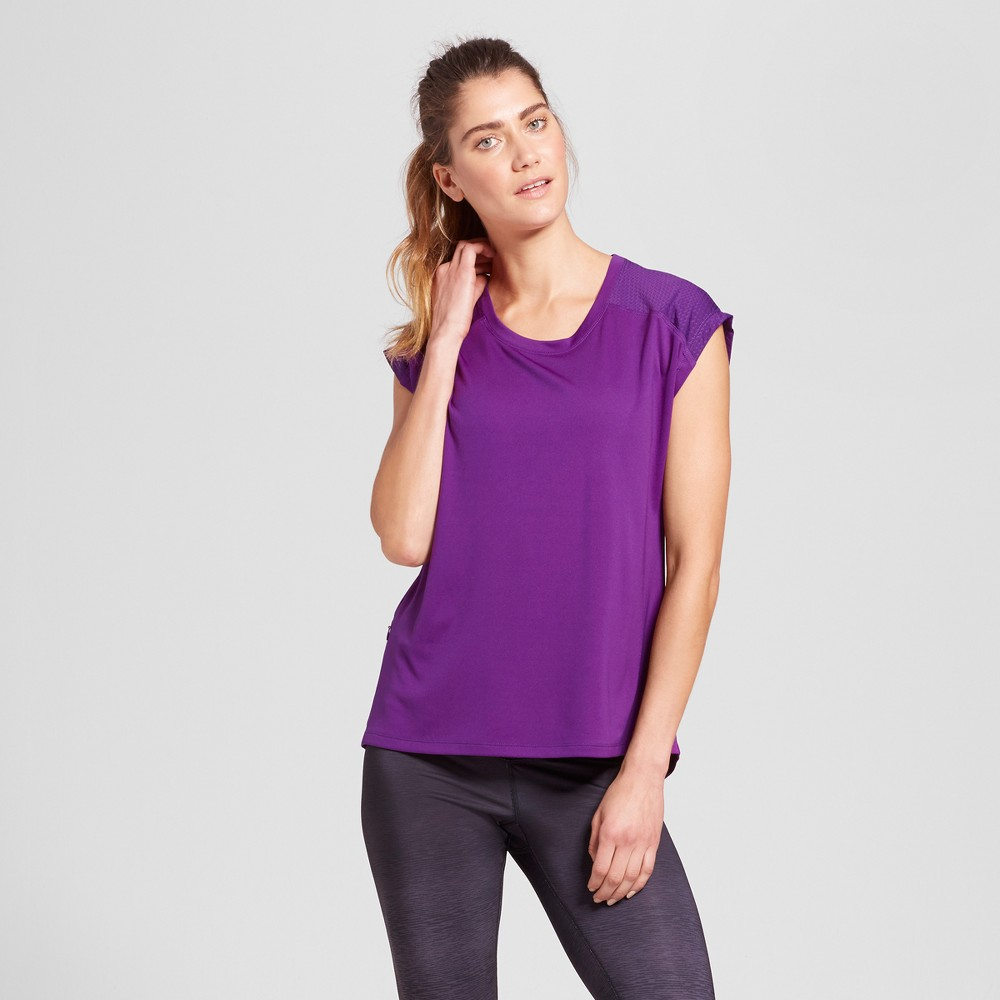 Womens Run Short Sleeve T-Shirt - C9 Champion - Grape Splash M