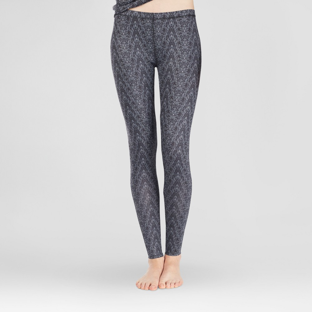 Warm Essentials by Cuddl Duds Womens Active Thermal Pants - Black Zig Zag XL