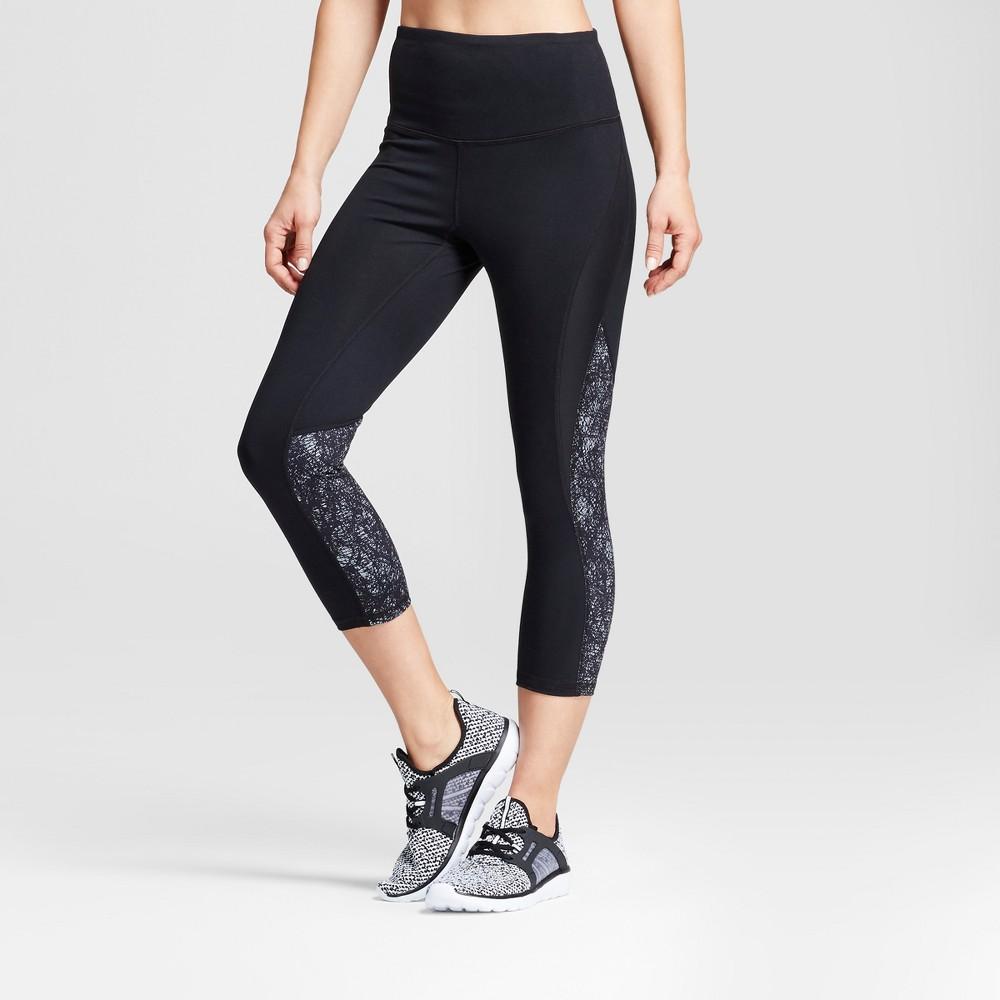 Womens Freedom High-Waist Printed Leggings - C9 Champion Black/Gray Crosshatched Print Xxl