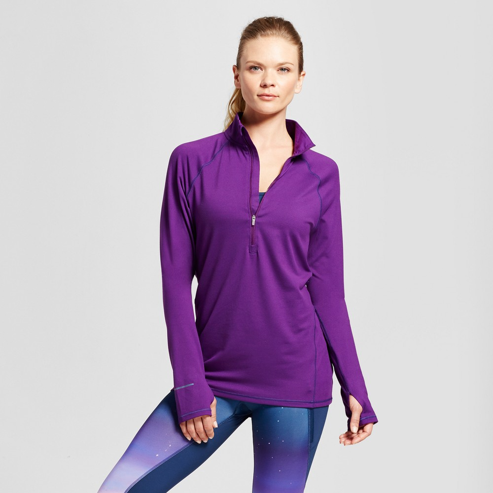 Womens Run 1/2 Zip Pullover - C9 Champion - Grape Splash XL