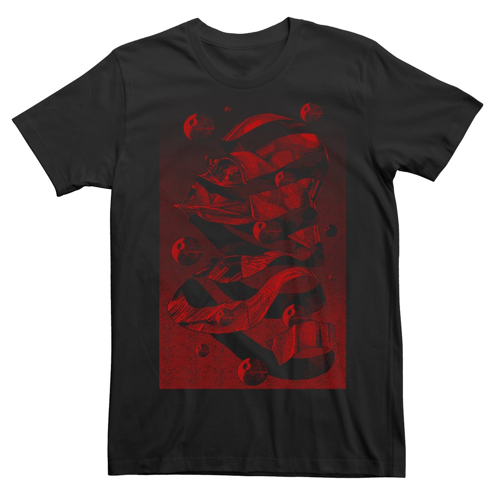 Mens Star Wars Darth Vader Artistic Head T-Shirt - Black L