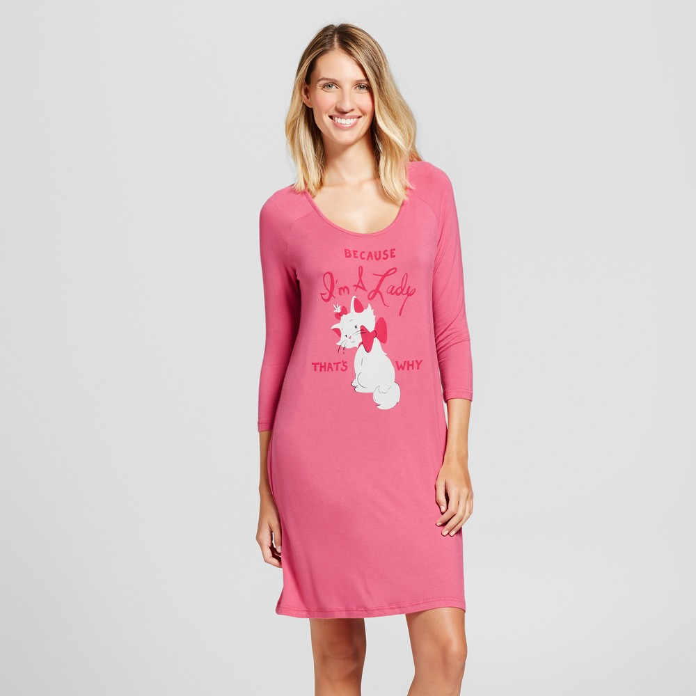 Womens Nite Nite By Munki Munki Disney Marie Aristocats Nightshirt - Pink XL