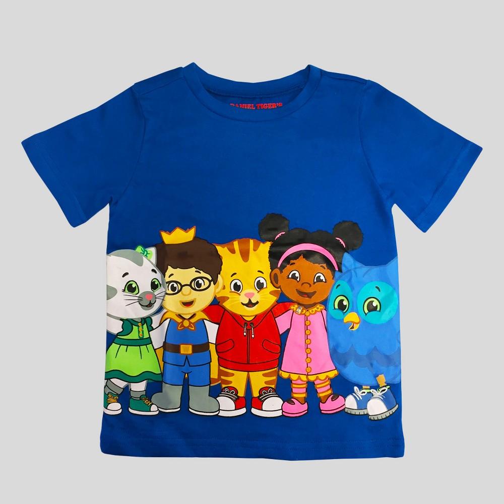 Toddler Boys Daniel Tigers Neighborhood Short Sleeve T-Shirt - Blue 5T