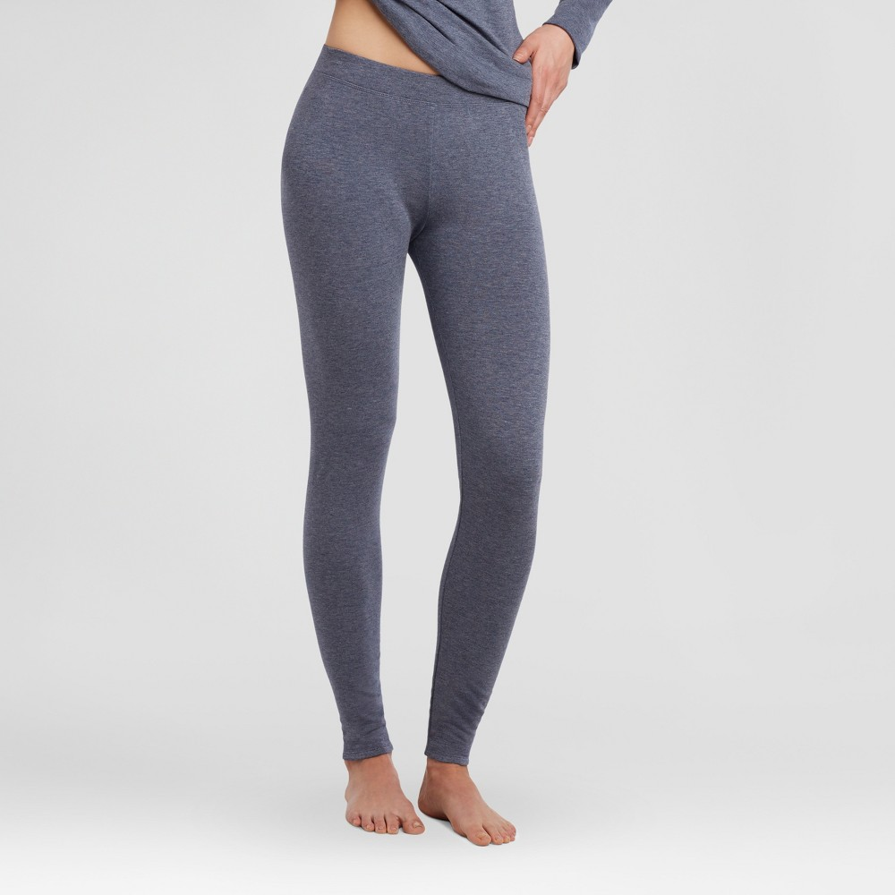 Warm Essentials by Cuddl Duds Womens Everyday Comfort Thermal Bottom - Ink Heather XL