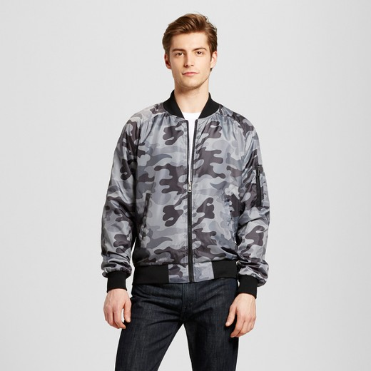Seduka® Men's Satin Bomber Jacket - Charcoal : Target