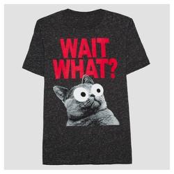 Boys' Big Eyes Graphic Short Sleeve T-Shirt - Black