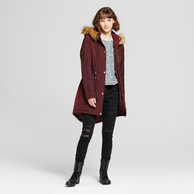 view Women's Parka with Removable Faux Fur Hood - Mossimo Supply Co. on target.com. Opens in a new tab.