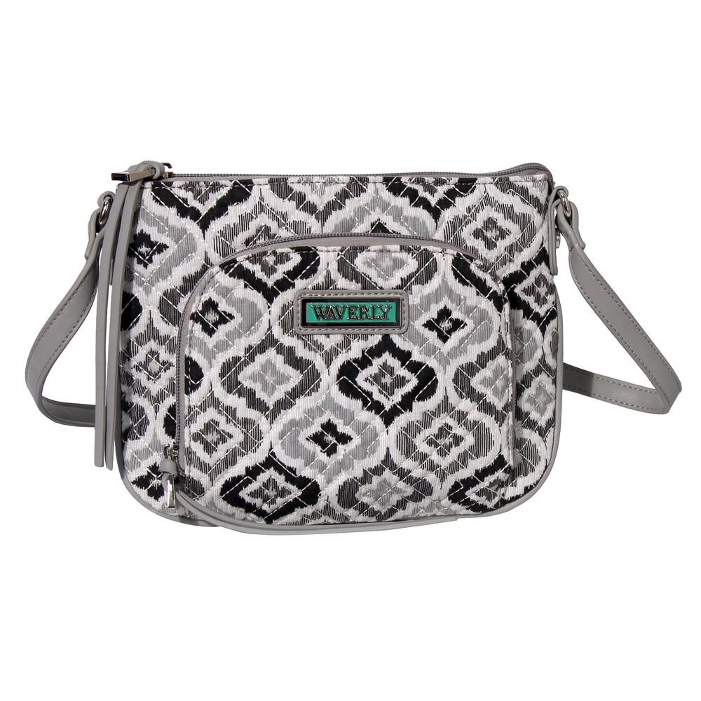 Waverly Womens Ikat Crossbody Handbag - Black/White