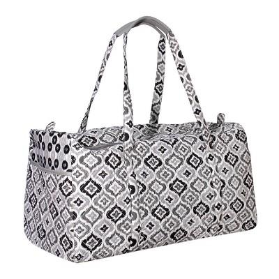 Women's Waverly Black & White Ikat Duffel Bag
