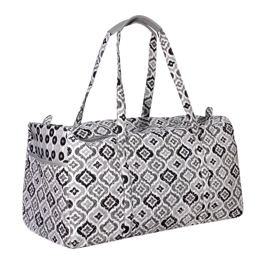 Womens Waverly Black & White Ikat Duffel Bag, Black/White
