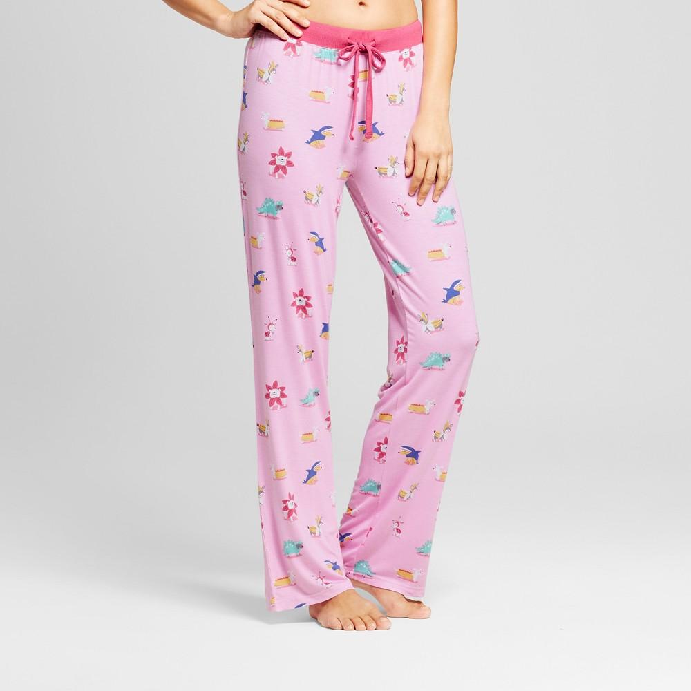 Nite Nite Munki Munki Juniors Dog Pajama Pants - Light Pink XS, Womens