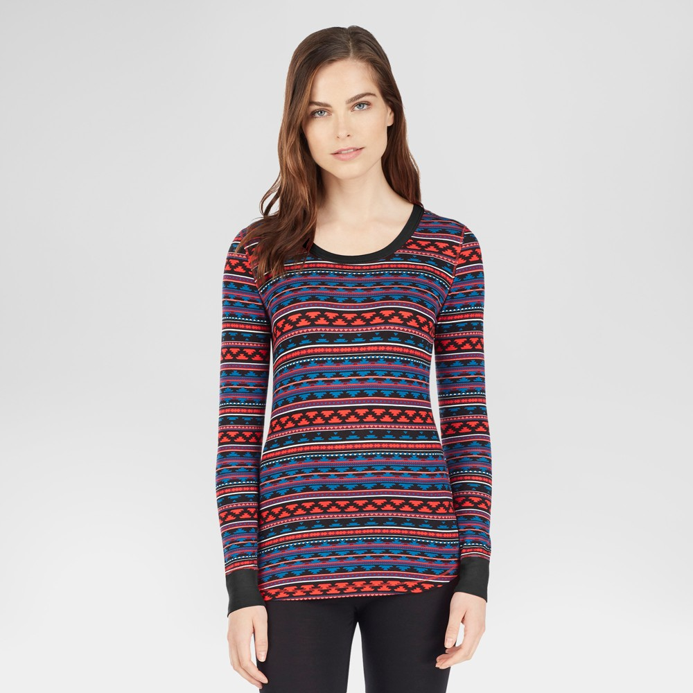 Warm Essentials by Cuddl Duds Womens Smooth Stretch Tunic - Aztec Print M