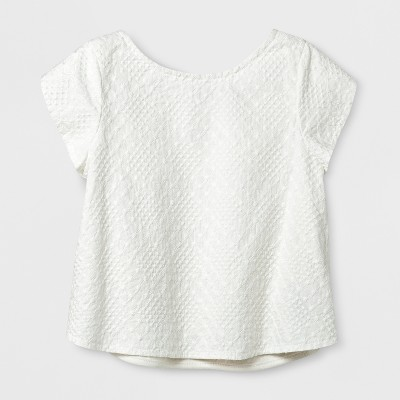 Toddler Girls' Embroidered Top - Genuine Kids™ from OshKosh® Cream 12M
