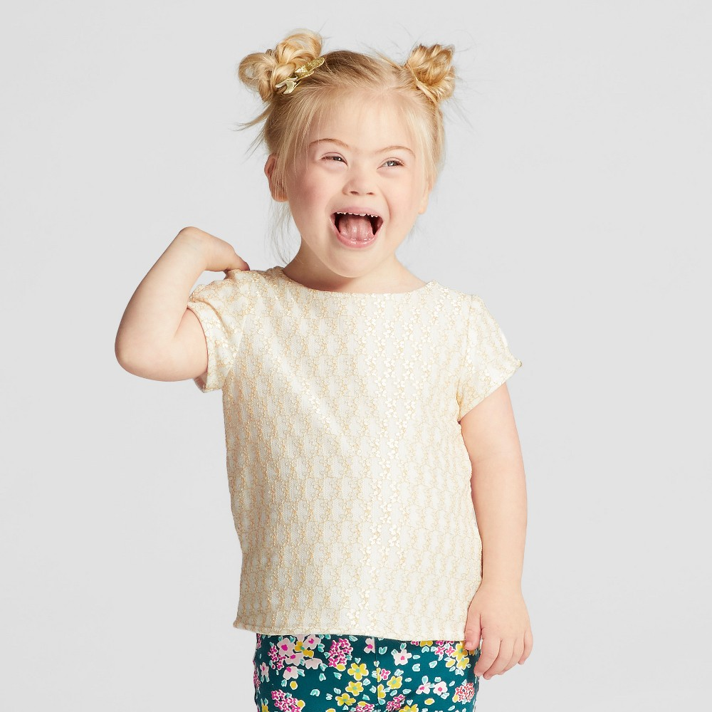 Toddler Girls Pretty Lace Top - Genuine Kids from OshKosh White 2T
