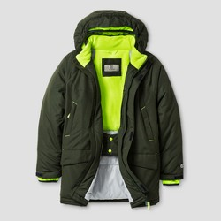 C9 Champion® Boys' Parka Jacket - Forest Grove/Reflector Green