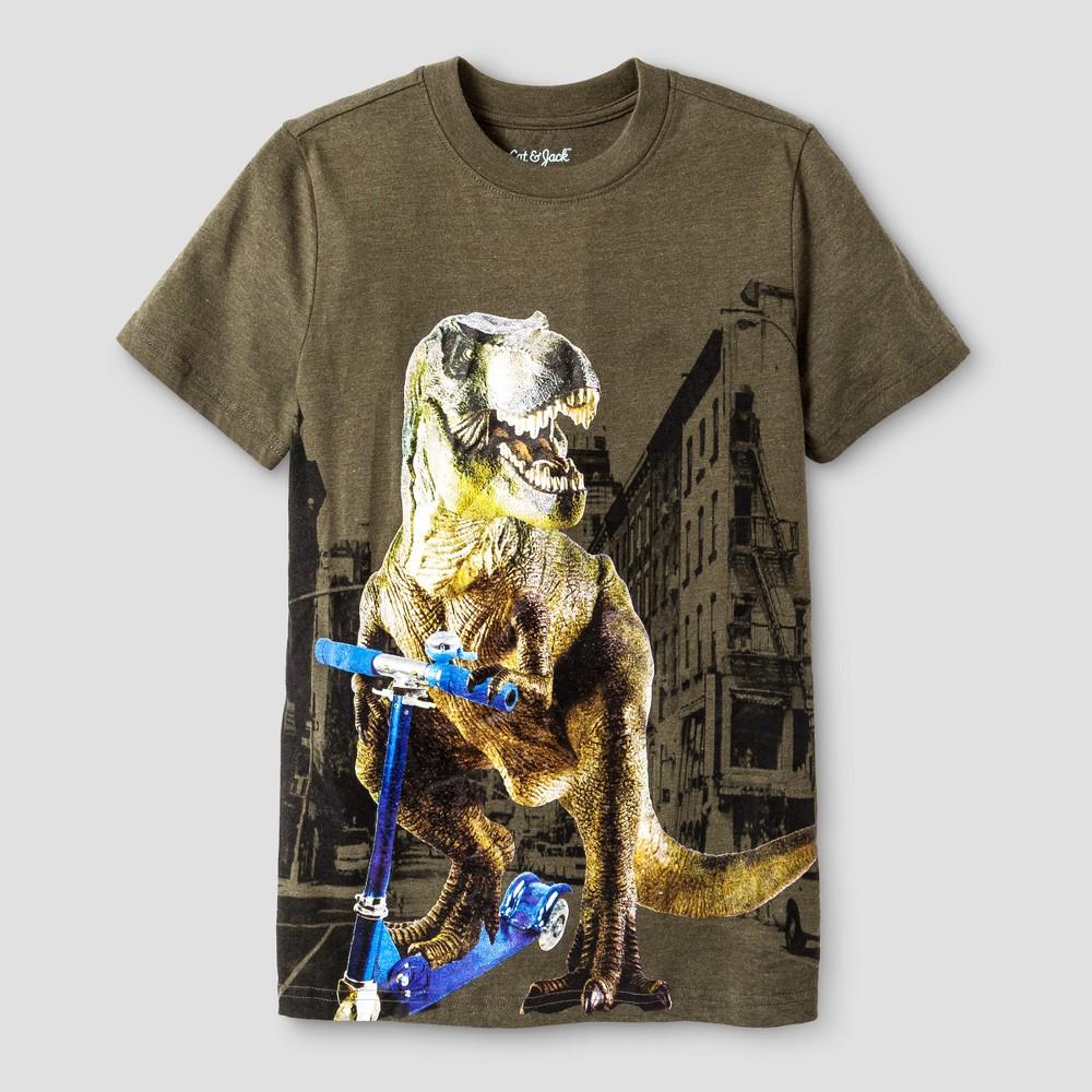 Boys Dino City Graphic Short Sleeve T-Shirt - Cat & Jack Green XS