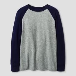 Boys' Long Sleeve Baseball T-Shirt - Cat & Jack™ Navy