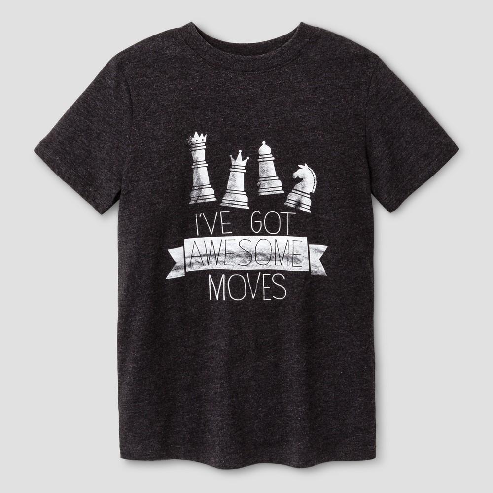 Boys Chess Graphic Short Sleeve T-Shirt - Cat & Jack Black S