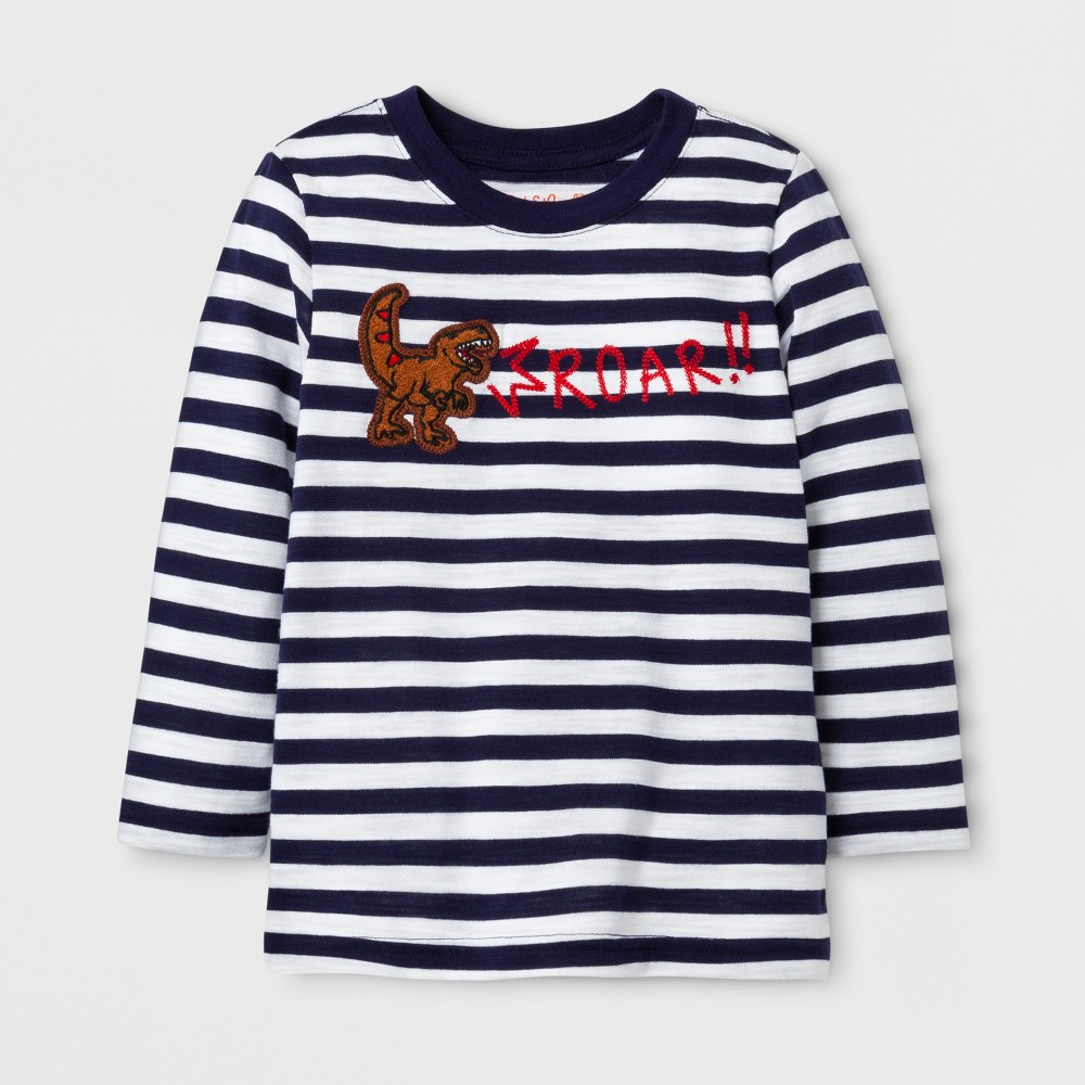 Toddler Boys Dinosaur Graphic T-Shirt - Cat & Jack White 3T