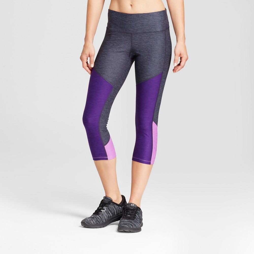 Womens Freedom Heather Colorblocked Leggings - C9 Champion Purple S