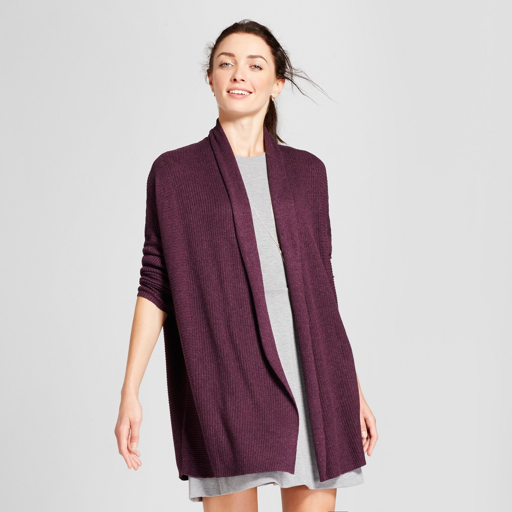 Womens Open Layering Cardigan - A New Day Purple L