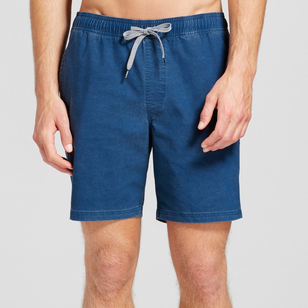 Mens Stone Wash Swim Trunks - Trinity Collective Navy (Blue) Xxl