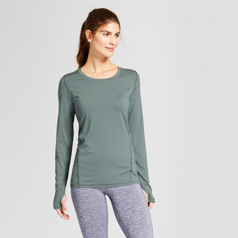 Women's Long Sleeve Tech T-Shirt - C9 Champion - Deep Pine M