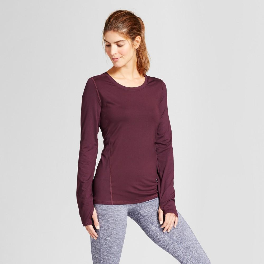 Women's Long Sleeve Tech T-Shirt - C9 Champion - Burgundy Blazer XL