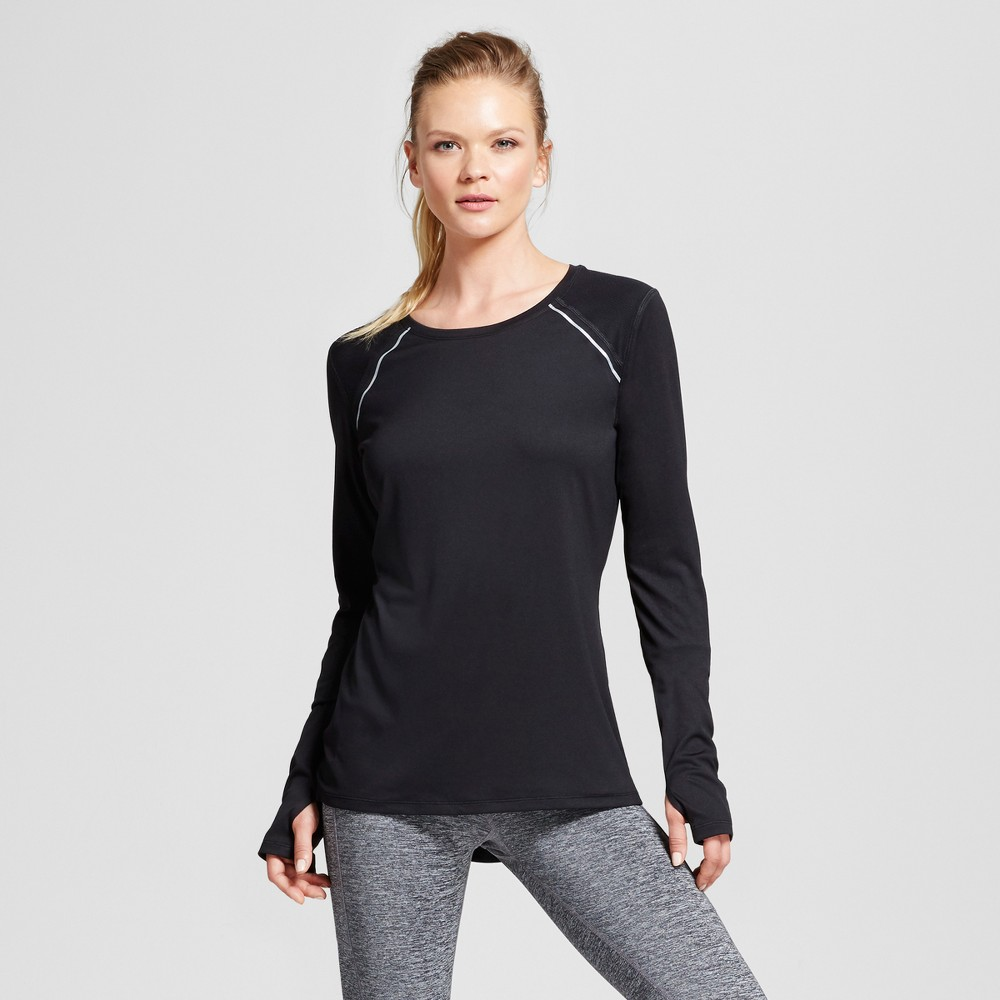 Womens Long Sleeve Tech T-Shirt - C9 Champion - Black M