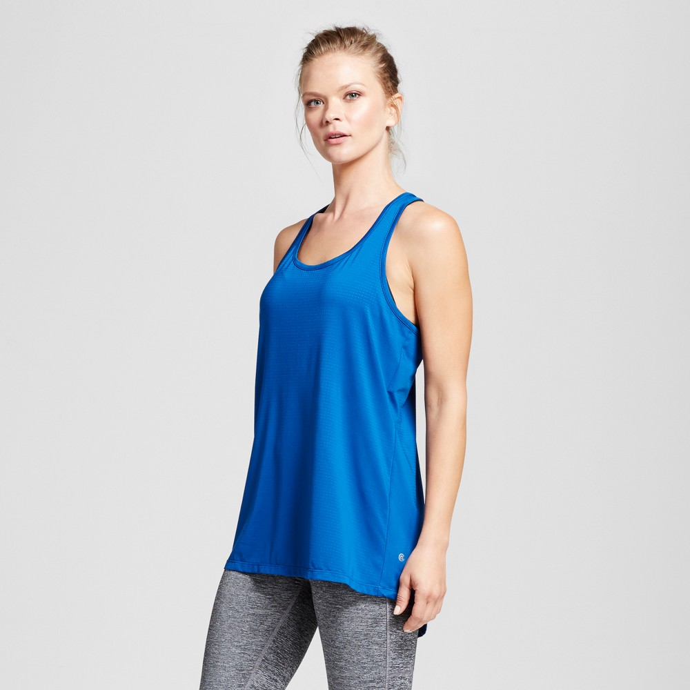 Womens Performance Mesh Long Tank Top - C9 Champion - Teal (Blue) M