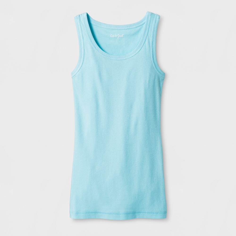 Girls Sleeveless Favorite Tank Top - Cat & Jack Light Blue XS