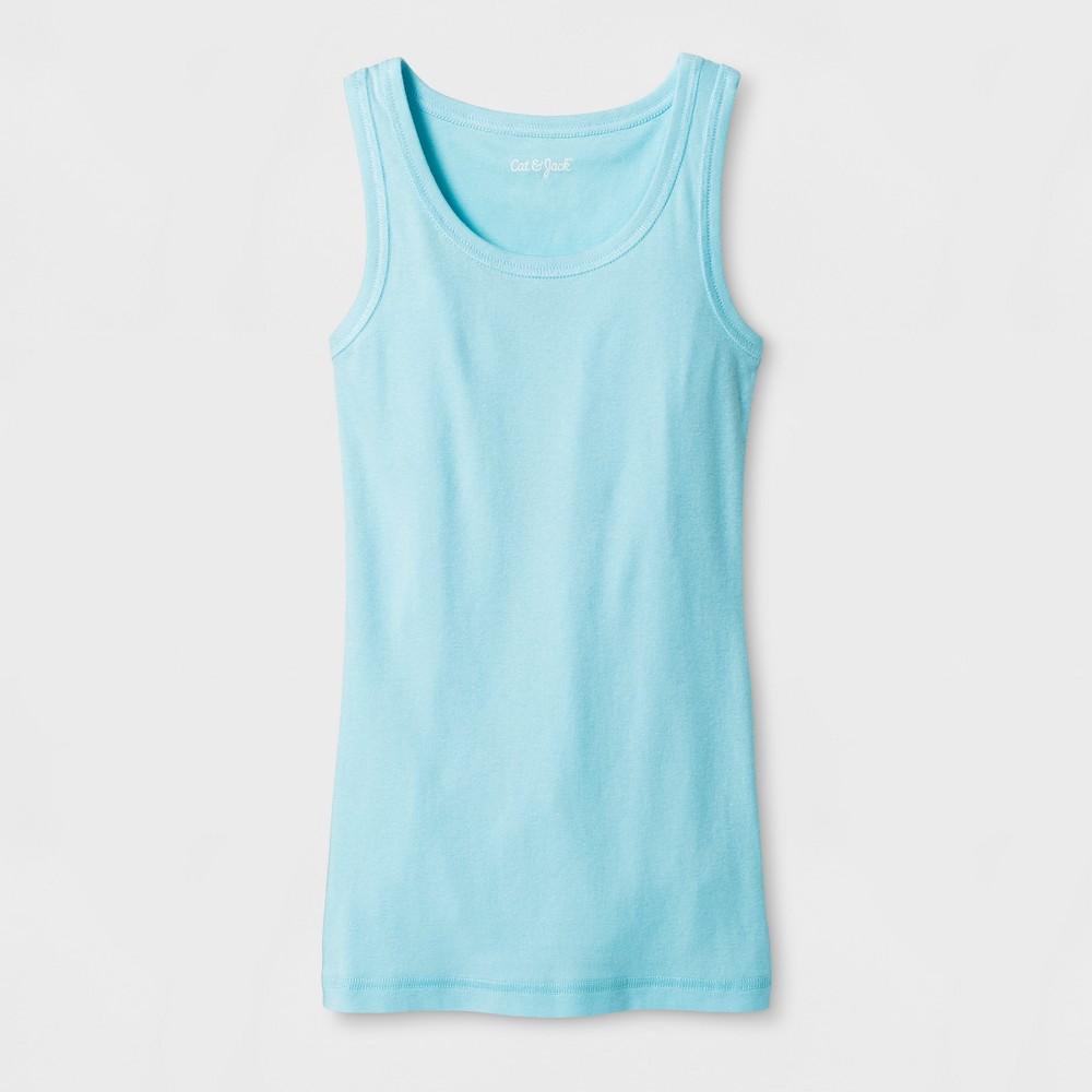 Girls Sleeveless Favorite Tank Top - Cat & Jack Light Blue L
