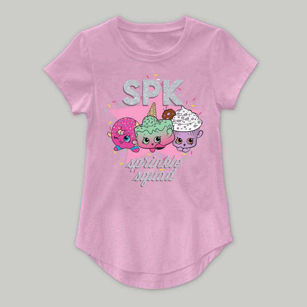 Girls Shopkins Short Sleeve T-Shirt - Pink S(6-6X), Size: S (6-6X)