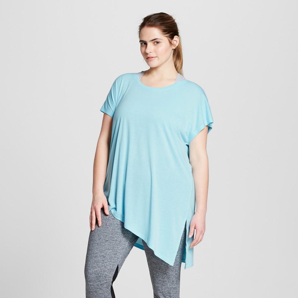 Womens Plus-Size Active Side-Tie T-Shirt - C9 Champion - Teal (Blue) 1X