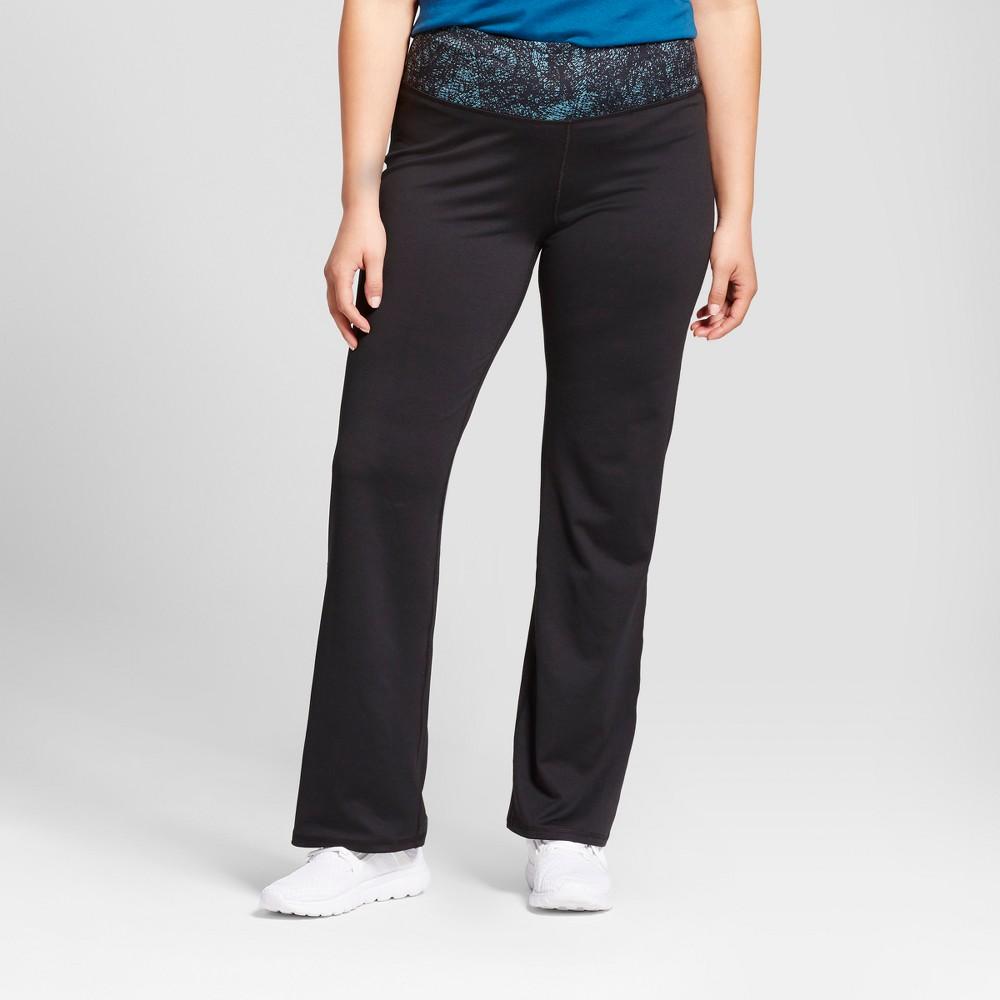 Women's Plus-Size Freedom Curvy Pants - C9 Champion - Black/Turquoise Printed Waistband 3X, Blue