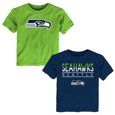 Seattle Seahawks Toddler Boys' 2pk T-Shirt Set - 2T