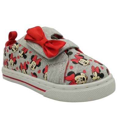 Toddler Girls' Minnie Mouse Low Top Sneakers 6 - Gray