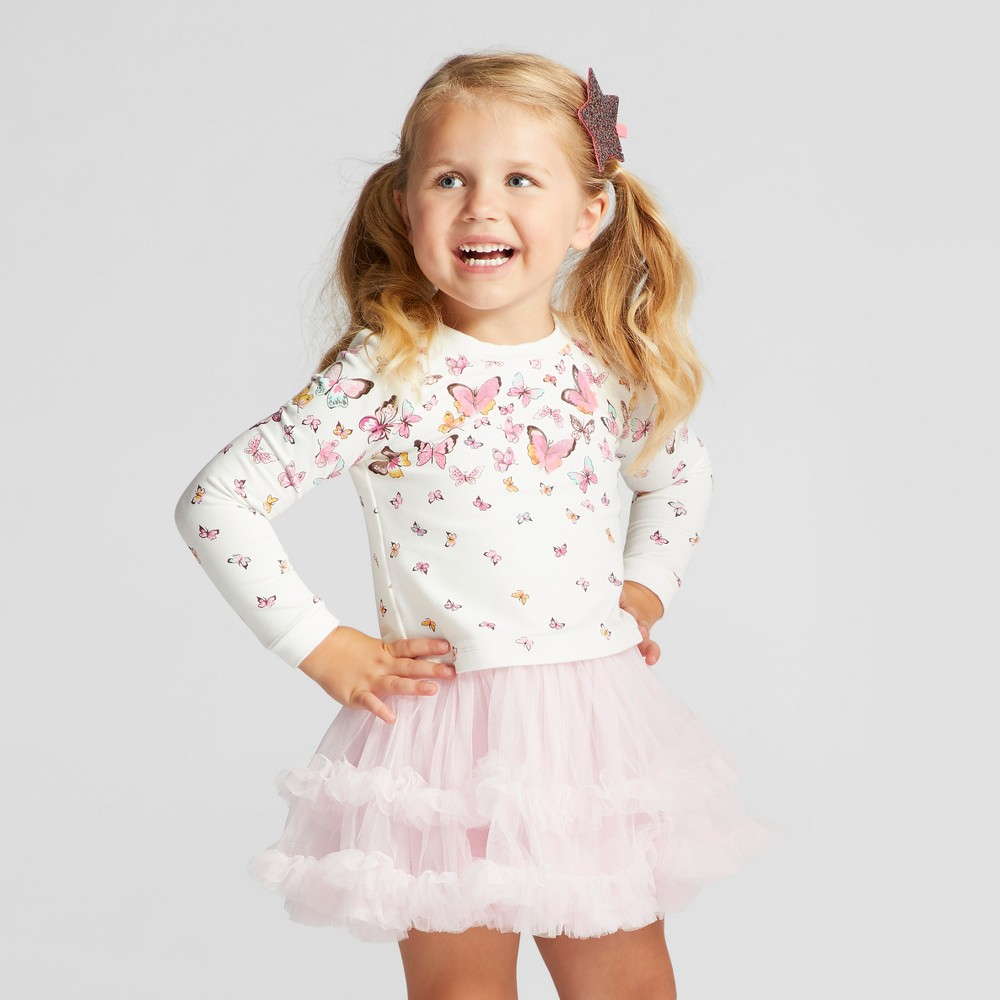 Baby Grand Signature Toddler Girls A Line Dress - Pink 2T