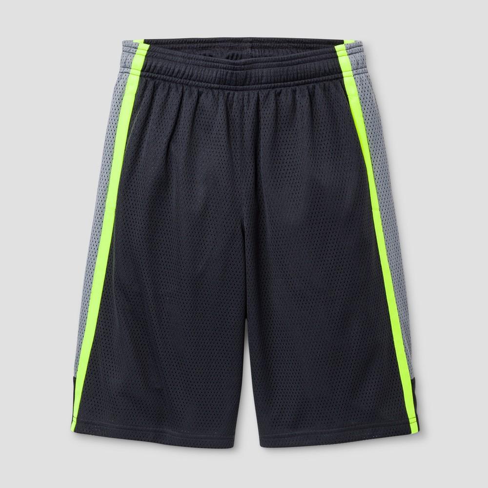 Boys 2-in-1 Basketball Shorts - C9 Champion Highlighter Yellow XL, Dark Gray